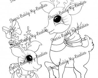 DESCARGAR INSTANT Digital Digi sellos grandes ojo cabeza grande muñecas Digi mi - Besties imgA7 invierno Wonderland por Sherri Baldy
