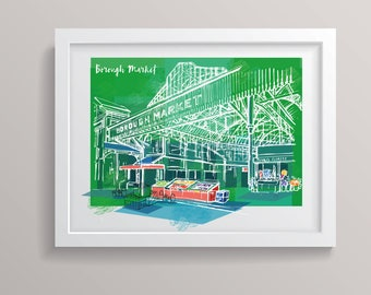 Borough Market, London A3 Print