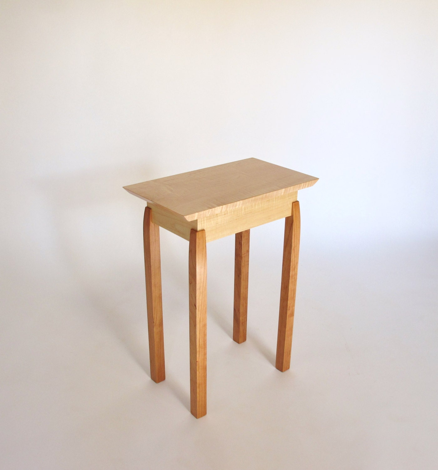 Small End Table Contemporary Wooden Table for Small Spaces
