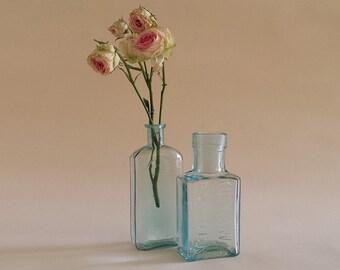 American vintage pharmacy glass bottles