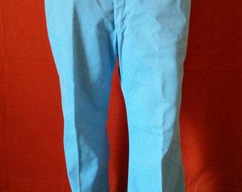 Vintage 70's Separate Lees by Lee blue high grade boot cut pants men size 38
