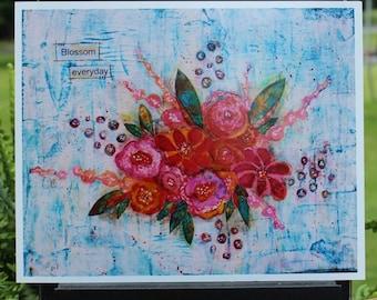 Art Print of Mixed Media Original artwork titled Blossom Everyday