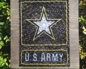 United States Army, US Army String Art Wood Sign