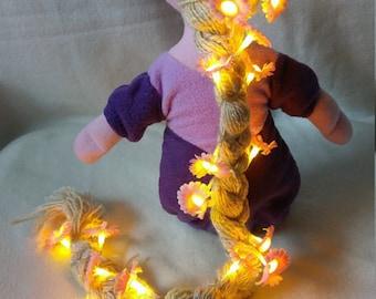 Rapunzel - Plushie, Soft doll, fairytale, hairflowers