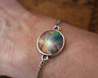 Light Orion Nebula Galaxy Space Bracelet -  Universe Jewelry - Petite Cosmic Bracelet - Outer Space Jewelry Science Wedding Gift - Colorful