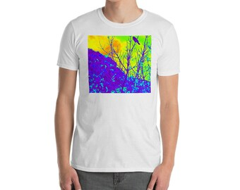 Fantasy scene with bird T-shirt