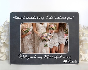 Gift for Maid of Honor Personalized Gift for Maid of Honor Personalized Bridal Party Gift Will you be my Maid of Honor Gift Personalized