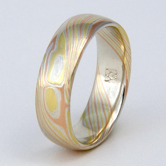 rose jewelry made rings mokume ring and gold damascus stonebrook collections custom engagement bands gane wedding
