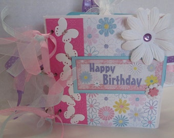 Happy Birthday Girl Brag Book/Paper Bag Scrapbook/ Photo album