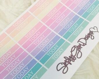40 Rainbow TODAY Stickers | Erin Condren & Plum Planner