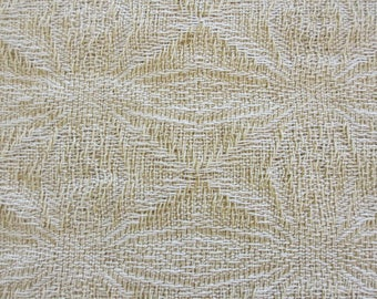 Handwoven Table runner Snowflake/Holiday/White/Gold