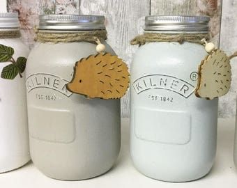 Hedgehog / food jar storage / 1L kilner / hedgehog jar / animal food / hedgehog lover