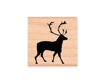 VINTAGE DEER - silhouette  - wood mounted rubber stamp -(MCRS 21-03)