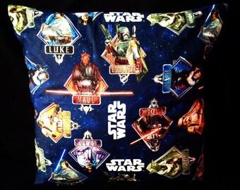 SALE! Star Wars Vintage Scifi Yoda Darth Vader Stormtrooper Boba Fett Princess Leia Luke Skywalker Geek handmade home decor cushion pillow