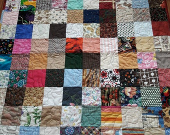 Lap Quilt for Wheelchair Patients, Gift for Grandparent, Lap Blanket, Nursing Home patient gift, Play Mat for young child, Sofa blanket,