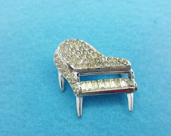 J Coro Rhinestone Baby Grand Piano Brooch Piano Musical