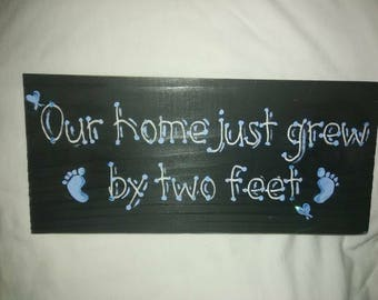 New baby boy hand painted sign....