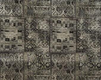 KRAVET COUTURE Lee JOFA Ornate Velvet Fabric 10 Yards Black Multi