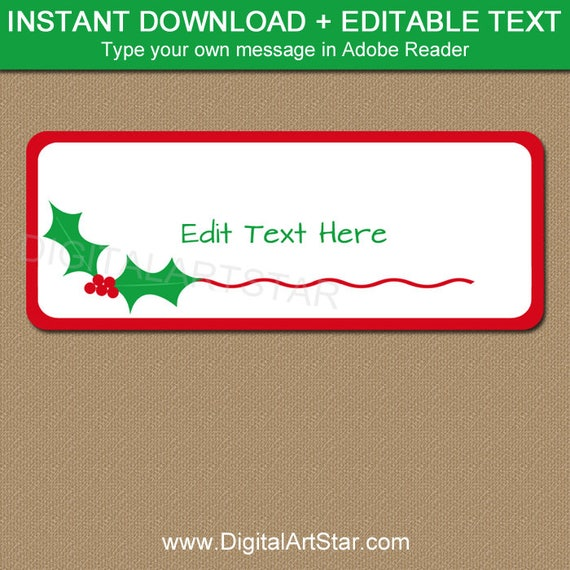 christmas address labels printable christmas return address With instant return address labels