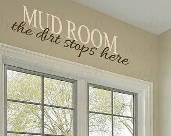 Mud Room Vinyl Door Decal Home Decor