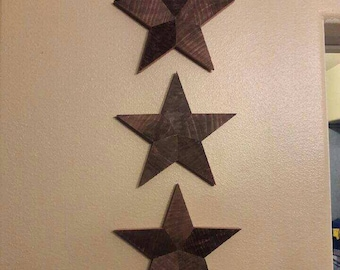 Five point stars (set of 3)