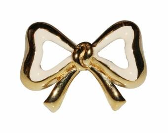 Brooch VINTAGE SPHINX - little knot heart white