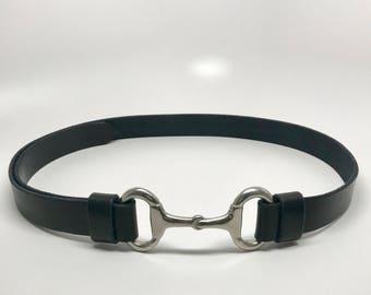 Snaffle Bit Belt, Horse Bit Belt, Interchangeable Bit Buckle Belt, Equestrian Belt, One Size Fits Belt, Horse Belt, Snaffle Bit, Leather