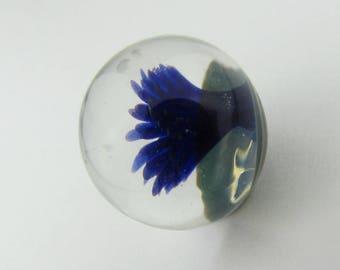 Implosion Flower Marble - Handmade Borosilicate glass Marble, Third Anniversary Gift, Lampwork Glass Forever Flower, Hand Blown Glass Boro
