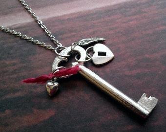 Skeleton Key Necklace Bohemian Love Jewelry