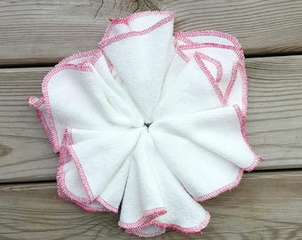 Pink Organic Wipes, Bamboo Wipes, Family Cloth, Family Cloth Wipes, Bamboo Washcloth, Bamboo Face Cloth, Face Cloths, Soft Washcloth