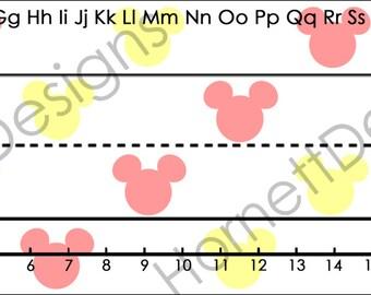 printable student desk nameplates Mickey and Minnie Disney