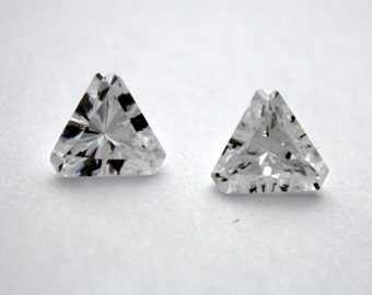 1 Cubic Zirconia Trillion | Crystal Cubic Zirconia | 10 mm Trillion | Cubic Zirconia