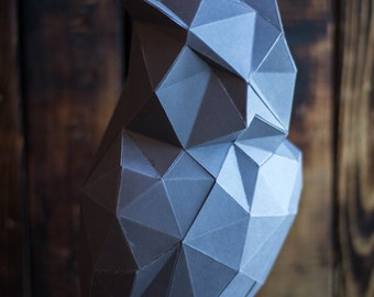 OWL 3D papercraft model, GIFT diamond tamplate for free