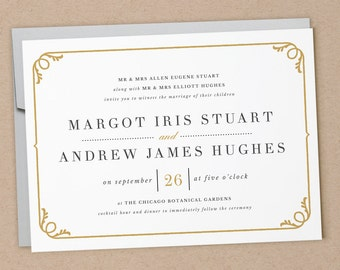Printable Wedding Invitation Template | INSTANT DOWNLOAD | Darby | Word or Pages | Easy DIY | Editable Artwork Colors
