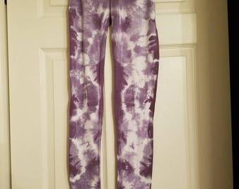 Hand dyed shibori leggings