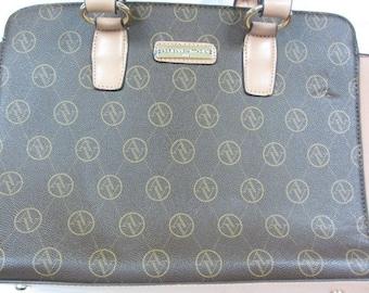Adrienne Vittadini Brown/Tan Handbag Purse