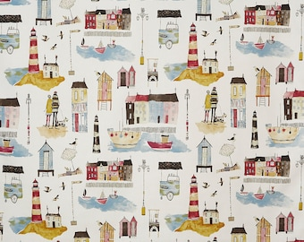 Prestigious Textiles Seaside Vintage Cotton Curtain Upholstery Blind Fabric