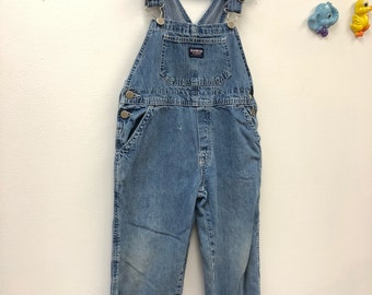 Kids 1980s Osh Kosh Jean Overalls Vintage Blue Denim Overall Pants  Children's Size 6 Years