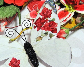 Butterfly Embellishments Ruby Rose