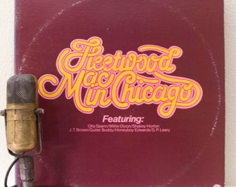 "ON SALE Peter Green's Fleetwood Mac Vinyl Record Album 1960s Blues Rock 2LP, ""In Chicago"" (1975 Sire Records Re-issue)"