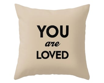 You are loved pillow Valentine gift love cushion Valentine decor Valentines pillow valentines cushion valentine pillow love pillow