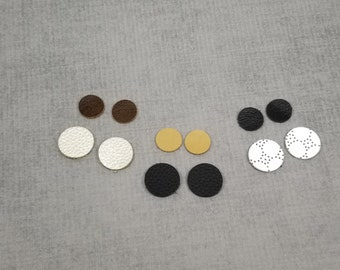 6 pairs Leather Circles, Small Circle Shapes for Earrings, Round Leather Pieces for Jewelry Making, Leather For Earrings