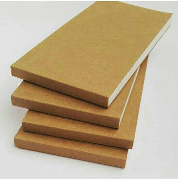 Small Grid Kraft Flip Notebook Tear Off Note Pad