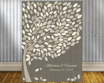 Guest Book Alternative Tree Print, Signature Tree, Guest Book Wedding Tree, Guestbook Alternative, 200 Guests 18X24 or larger