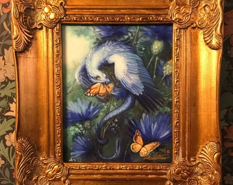 Limited Edition The Bavarian Blue Nose Canvas by Annie Stegg Gerard Print Baby Dragon Art