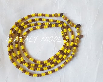Tiger's Eye/ Dragon Vein Agate Waistbeads