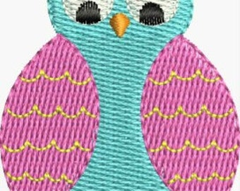 Mini Owl embroidery designs 4 sizes