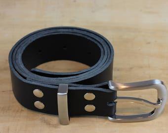 ROA - Leather Belt: Black