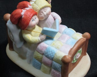 Signed, Patch Kids, Porcelain figurine, Bedtime Story, Mint Condition, in the box   1342a