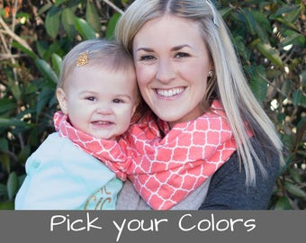 Mothers Day Gift for Soon to Be Mom and Baby Matching Scarf Mother Daughter Outfits for Mom and Daughter Scarf Mommy and Me Baby Gift
